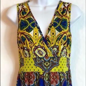 Colorful Boho sleeveless maxi dress size small